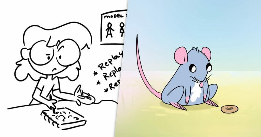 Behind the scenes on Renee Violet's video on animating a rat using cutout techniques in Toon Boom Harmony