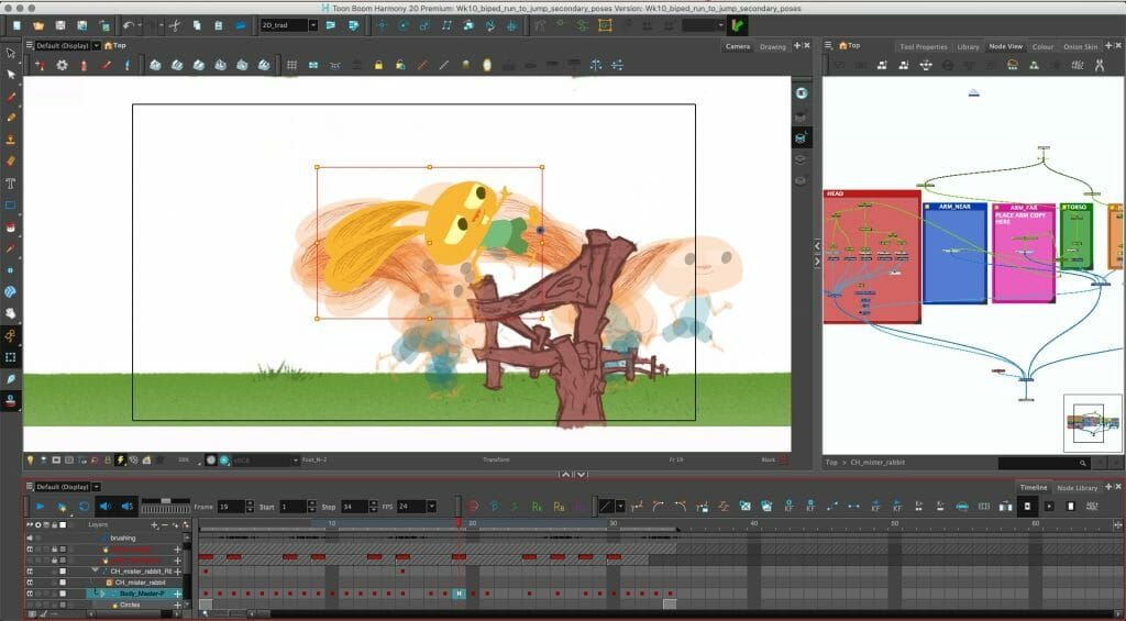 Screenshots of 2D animated cutout projects provided by Mike Wiesmeier