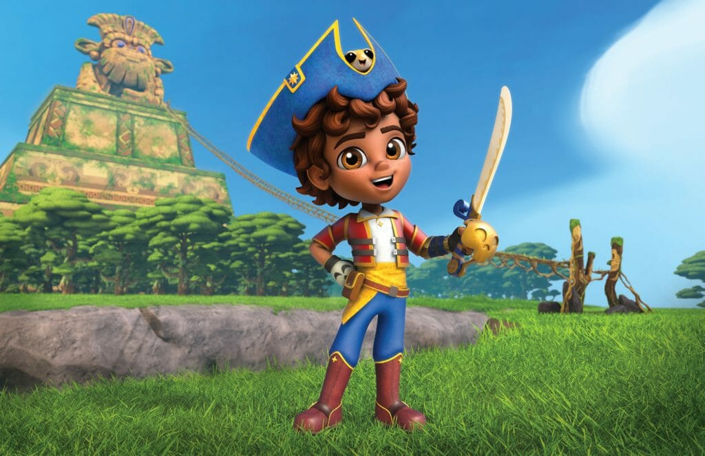Character design of Santiago Montes, provided by Nickelodeon.