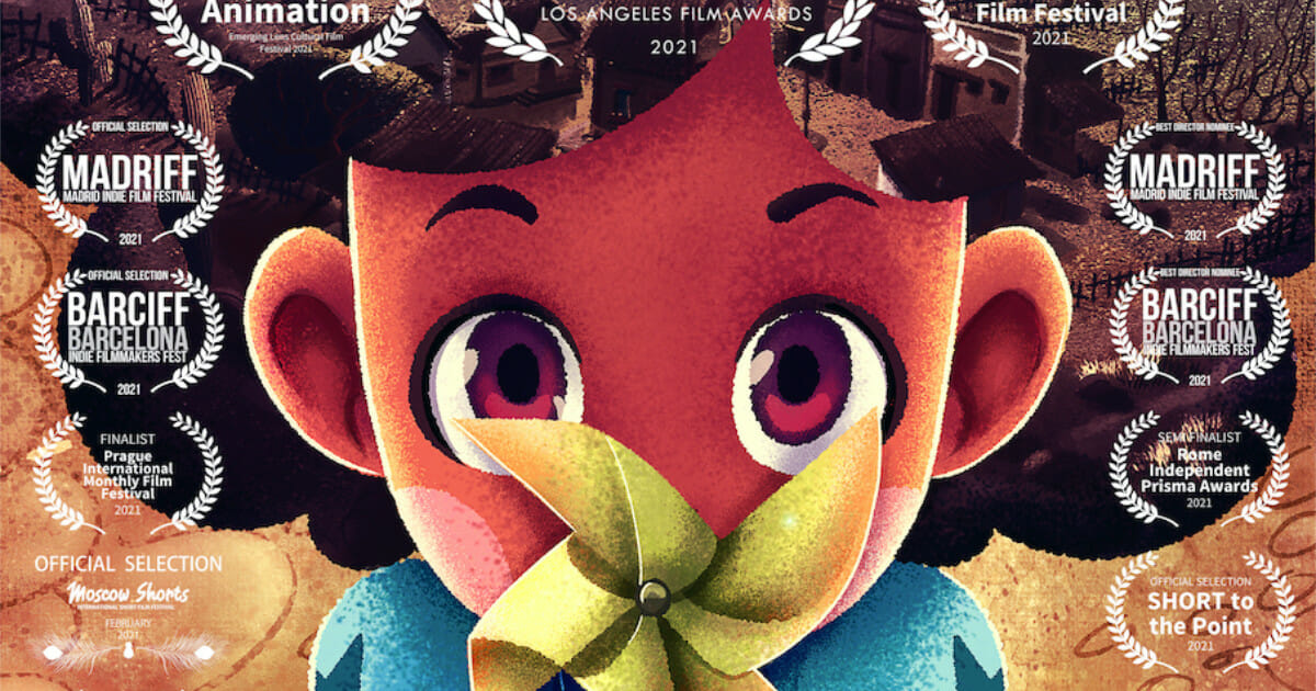 The poster for the animated short, Sebastiana. Directed by Cláudio Martins and animated at Animare Studio.
