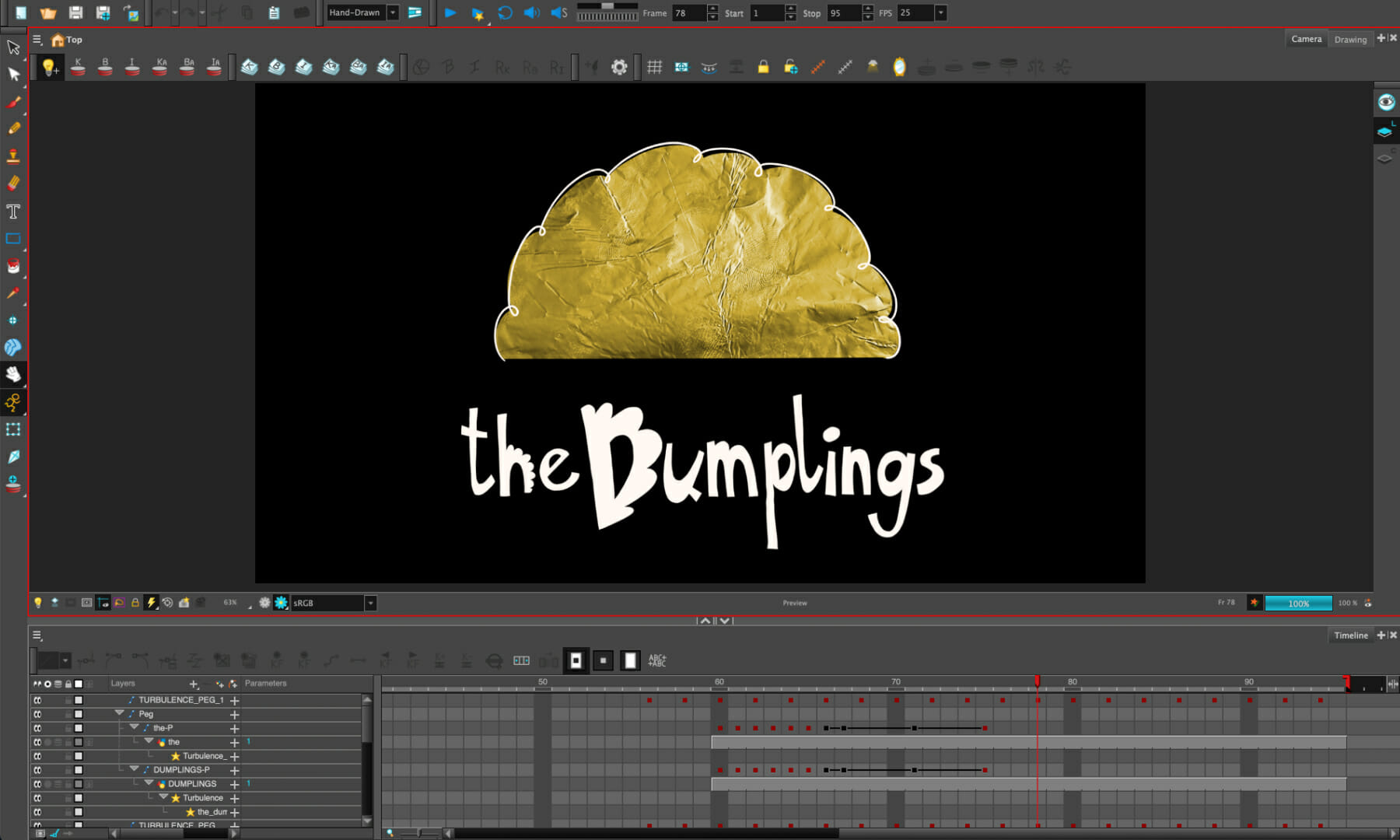 Scene created by Matteo Ciompallini for The Ingredients of Animation, featuring Polish dumplings.